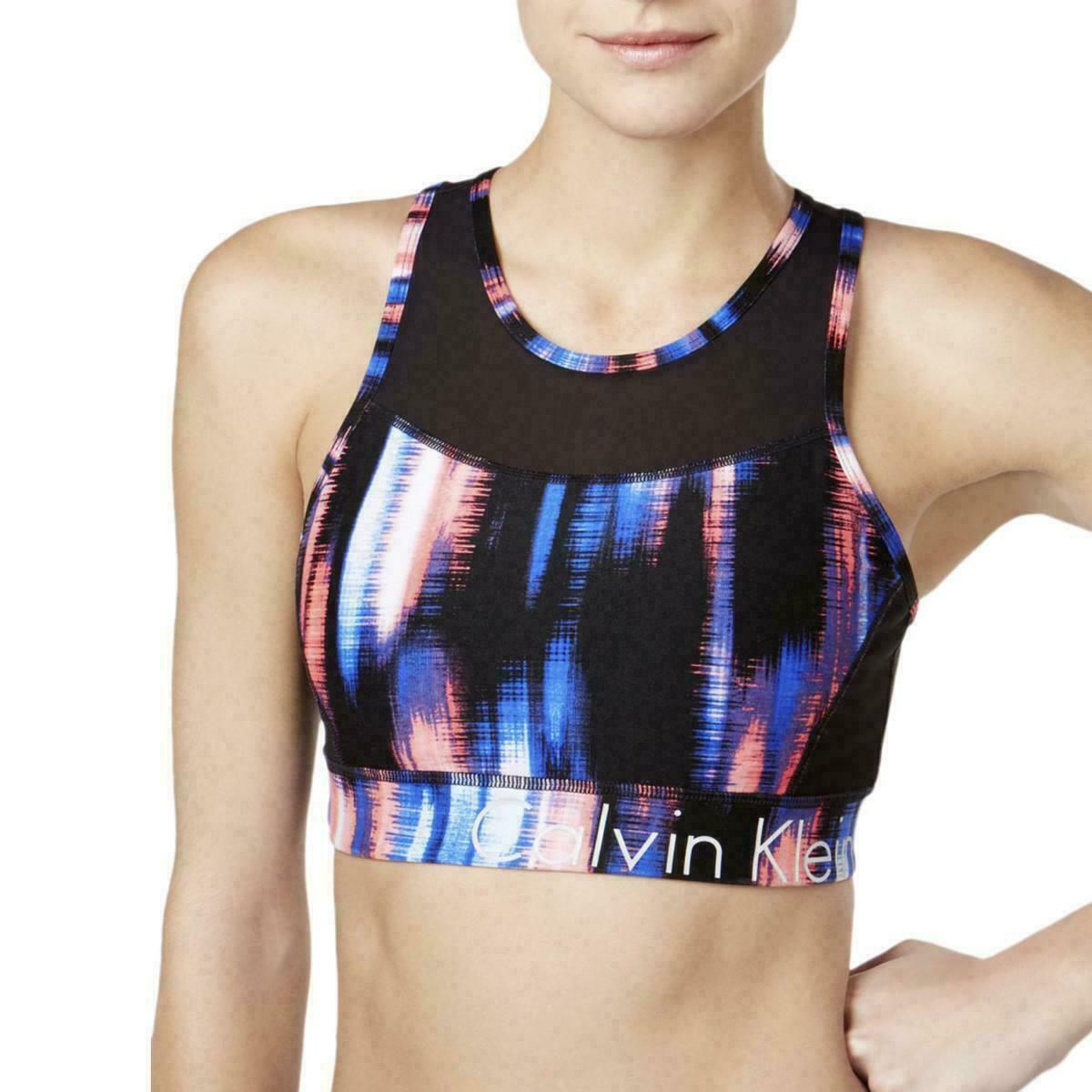 Primary image for Top Calvin Klein Performance Med Split Racerback Sport's Bra Activewear ZA458