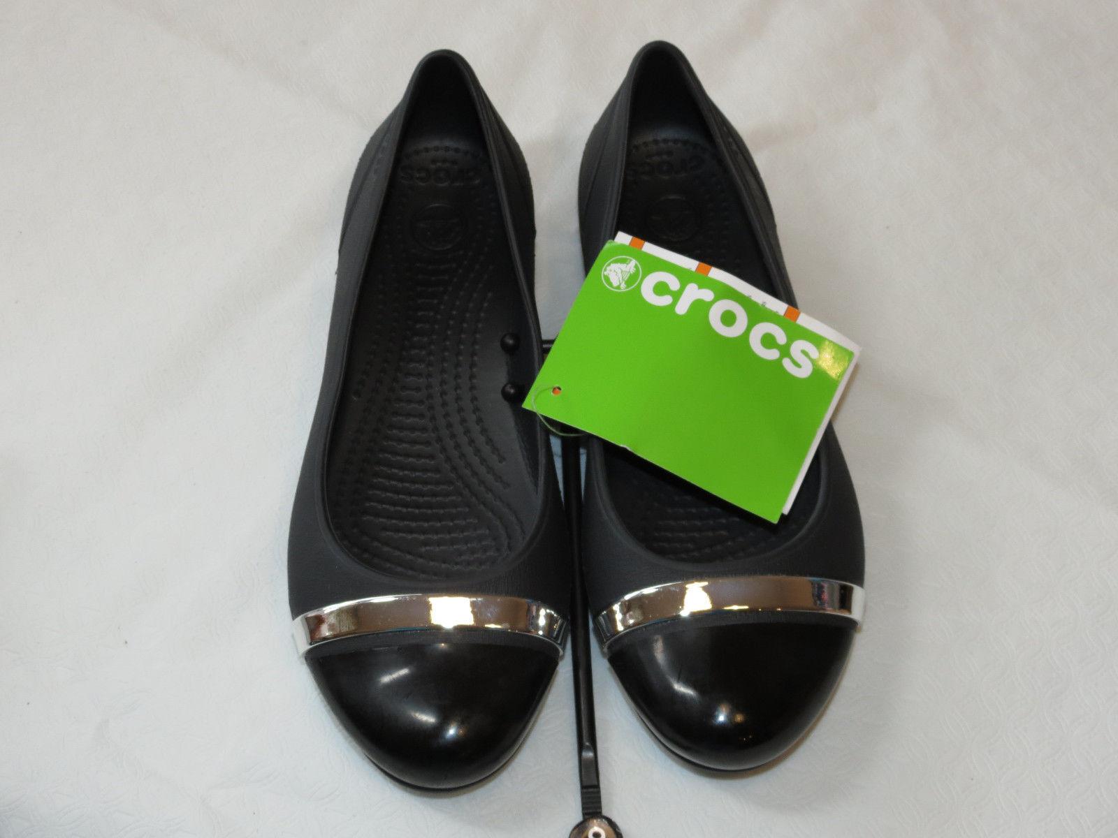 ec3169a4c16e89 Crocs Womens Cap Toe Mirror Flat Black and 50 similar items. S l1600