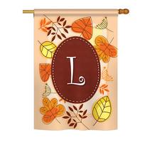 "Autumn L Initial - 28"" x 40"" Impressions House Flag - H130038 - $40.97"