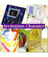 Invitations Clearance, Choose From 4 Designs 1 Pk Each, Lunch Party Invites - $2.95