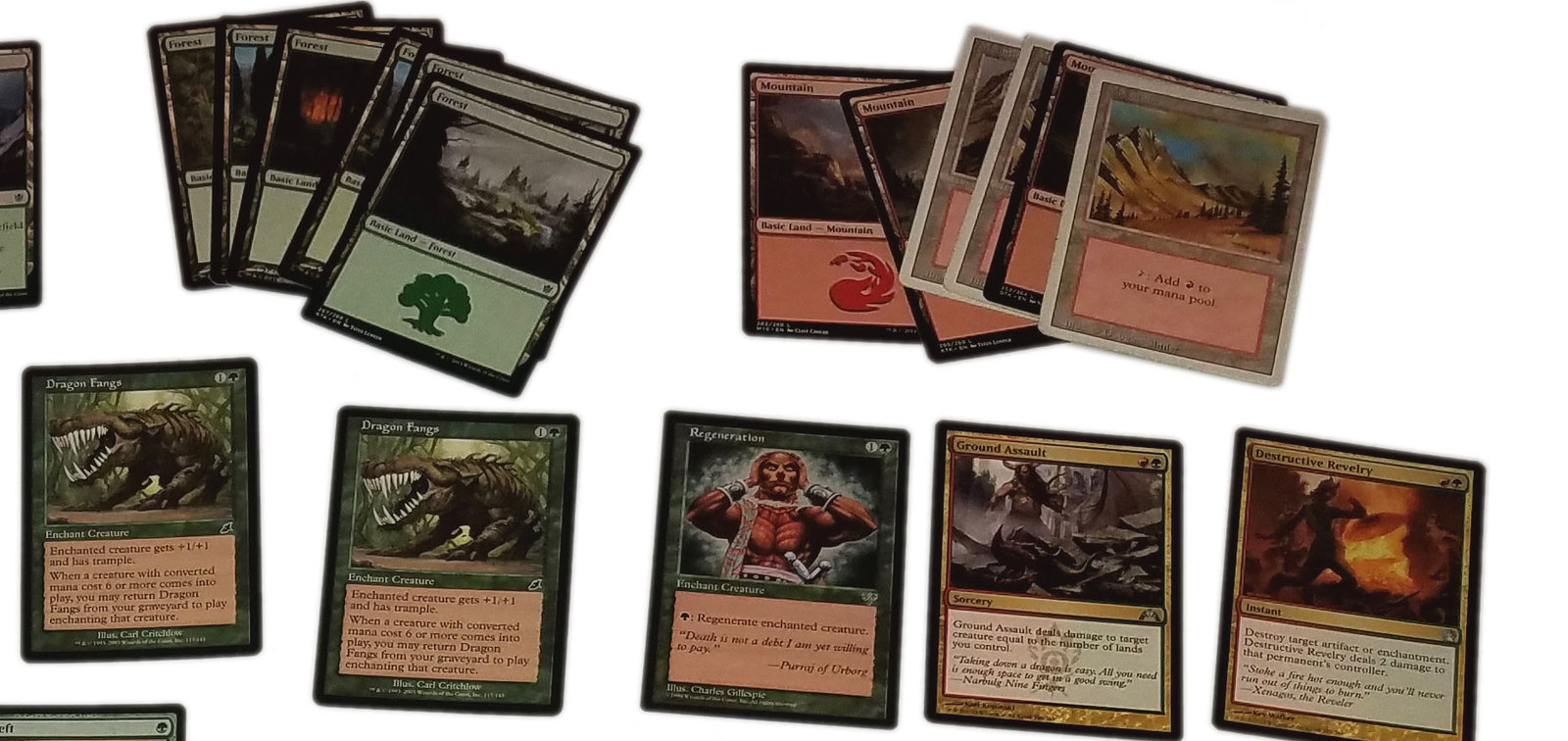 Magic the Gathering MTG Red / Green Dragon (60) Card Custom Starter Deck