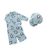 StylesILove Boys Penguins One-Piece Swimsuit with Hat 2 pcs Set - $18.99