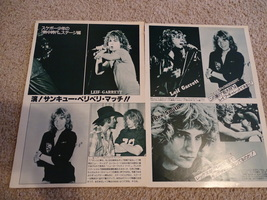 Leif Garrett teen magazine pinups clipping lot black and white on stage Bop