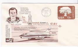 F-8 DIGITAL FLY BY WIRE FOURTH FLIGHT GARY KRIER EDWARDS CA 2/16/1977 SP... - $1.78
