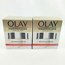 2X Olay Magnemasks Infusion Rejuvenating Jar Mask Fine Lines 1.7oz each - $33.26