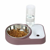 Pet Food Water Bowl Double Raised Stand Dish Feeder Fountain Drinking Di... - $42.31