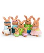Lil Woodzeez Cottonball Rabbit Family Animal Toy Set Bunnies Grandparent... - $24.23