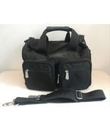 Eddie Bauer Duffel Travel Overnight Bag Black Nylon With Pockets Strap - $29.70