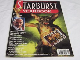 1990 1991 STARBURST YEARBOOK SCIENCE FICTION MAGAZINE SEAN CONNERY MUTAN... - $1.75