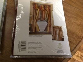 Set of 2 Ombre Burgundy Tasseled Waterfall Valance NEW - $24.99