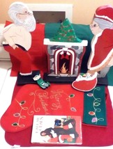 Mr. & Mrs. Santa Claus Wood Display & Call Me Claus Movie For Christmas Lot - $27.72