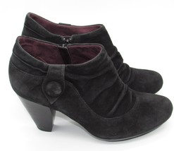 Indigo Clarks Womens Boots 9.5 Black Suede Leather Bootie Ankle Boot 3.5... - $19.99