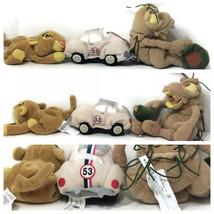 Disney Herbie Love Bug Bug's Life PT Flea & The Lion King Beanbag Plush ... - $14.70