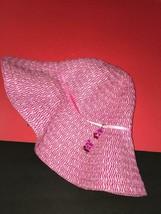$25 DISNEY PARKS WOMEN'S PINK FOLDABLE WIDE BRIM SUN HAT OVERSIZED - $14.84