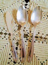 S.L & G.H Rogers Co. Serving Spoons and Butter Spreader Knife Silverplate - $10.00
