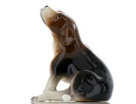 Hagen Renaker Specialty Dog Beagle with Beard Ceramic Figurine Larger Size image 3