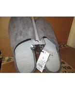Men's Grey Microfiber Scuff Slide Slipper Size S (7-8) - $10.00