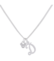 Disney Parks Mickey Mouse Faux Gem Icon Letter Initial D Necklace Silver Color - $28.90