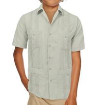 Boy's Guayabera Wedding Baptism Kids Toddler Junior Button-Up Casual Dress Shirt image 2