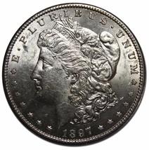 1897S MORGAN SILVER $1 DOLLAR Coin Lot# EA 91