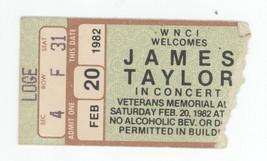 RARE James Taylor 2/20/82 Columbus OH Veterans Memorial Auditorium Ticke... - $19.79