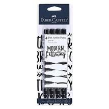 Faber Castell Black Modern Lettering Pitt Artist Pen Set, - $13.66