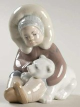 New Lladro Eskimo boy with polar bear - $53.99