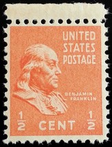 1938 1/2c Benjamin Franklin, Founding Father Scott 803 Mint F/VF NH - $0.99