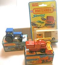 3 Matchbox Lesney Horsebox Ford Tractor  Combine Harvester 1975-1978 NIB... - $51.65