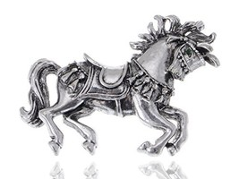 Alilang Vintage Inspired Repro Carousel Merry-Go-Round Horse Metal Costu... - $18.24