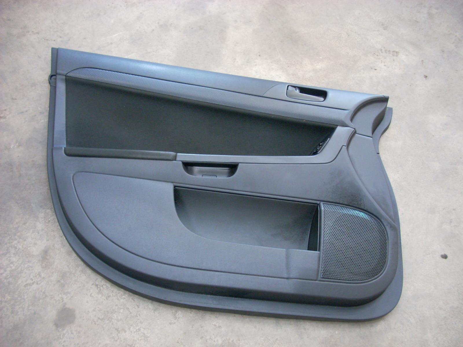 2010 MITSUBISHI LANCER BLACK LEFT DRIVER FRONT DOOR TRIM PANEL