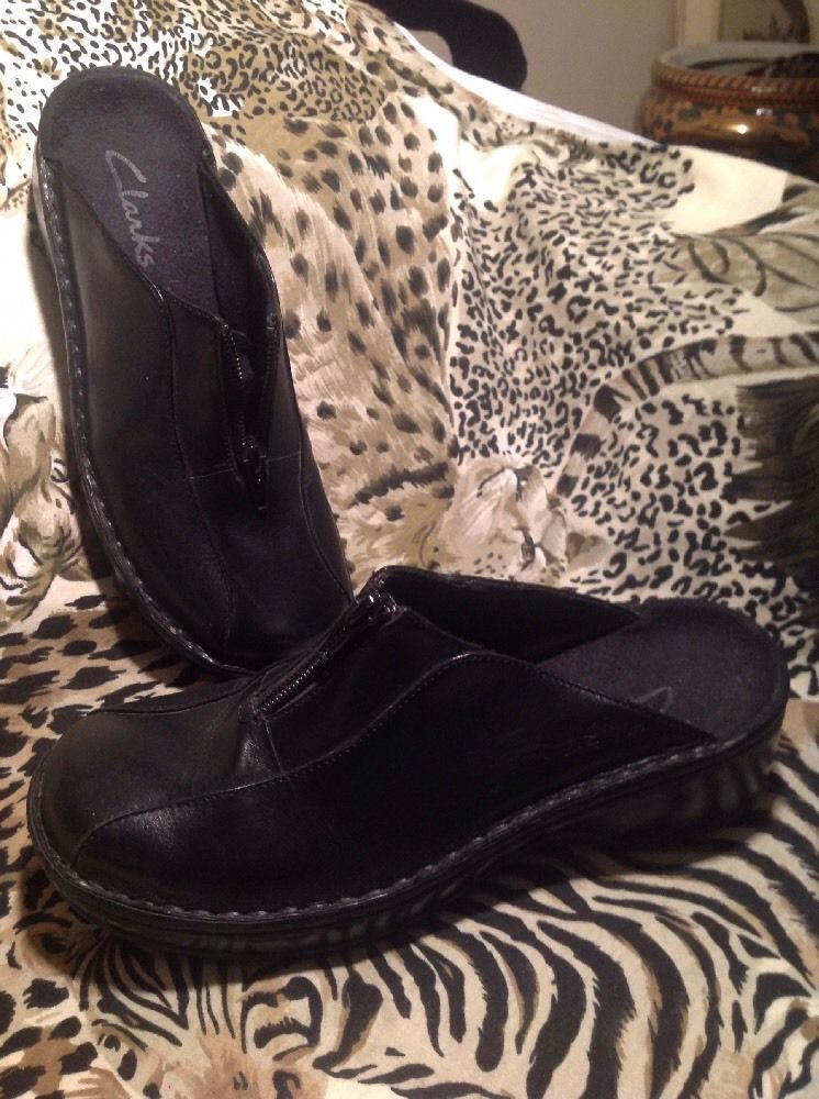 6954cf24911 Women's Clarks Black Mules Saddle Zipper and 15 similar items. S l1600