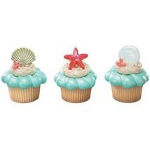 DECOPAC Sea Shell Cupcake Rings (12 Count) - $8.86