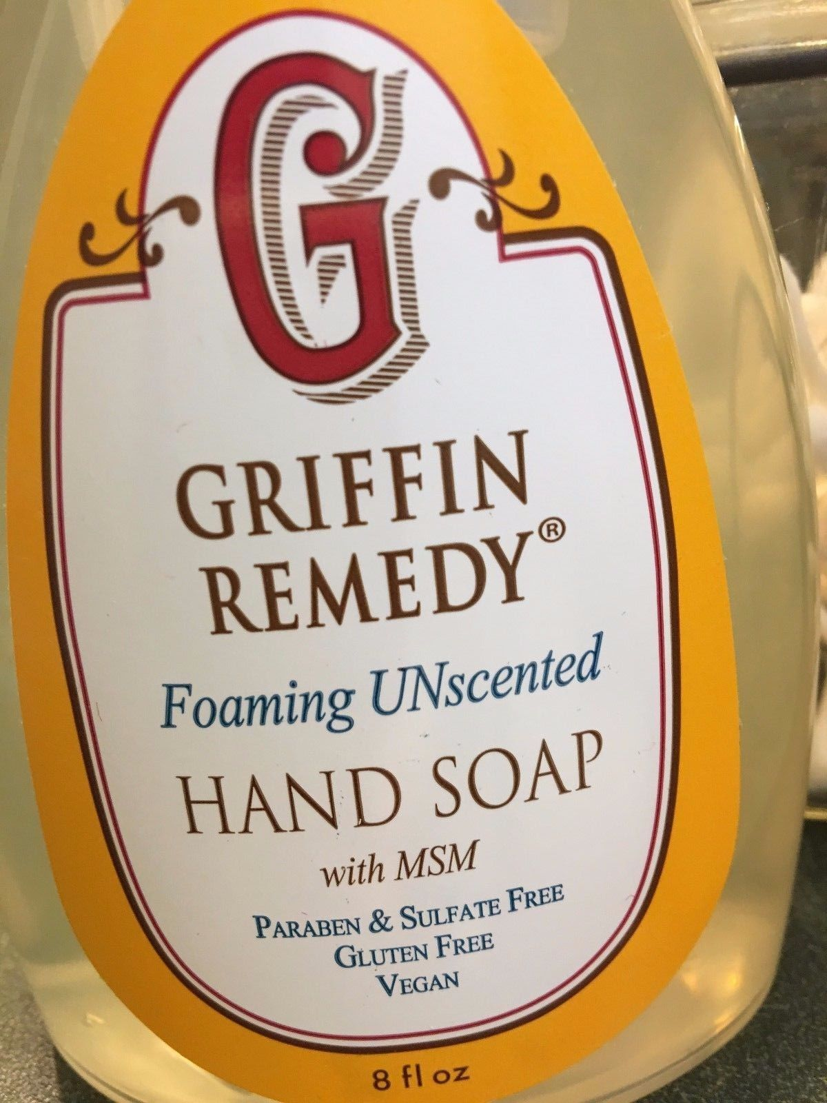 Griffin Remedy Foaming Hand Soap Vegan GF Cruelty Free