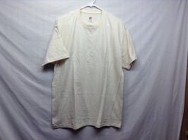 Never Worn HANES Sand Colored Cotton T Shirt Sz LG