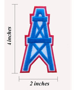 """Houston Oilers Logo Width 2"""" Embroidered Iron 1 Patches - $1.15"""