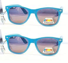 Lot of 2 Way Cool Neon Blue Premium Glare Blocking Polarized Sunglasses UV400 - $11.21