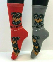 2 PAIRS Foozys Women's Socks ROTTWEILER, Canine Collection, Dog Print, NEW - $8.99