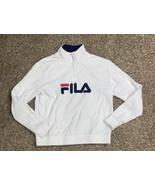 womens fila pullover sweatshirt white large - $11.18