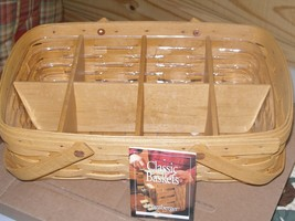 Longaberger Medium Square Gathering Basket w/ Protector, Liner and Insert - $143.55