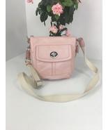 Coach Crossbody Bag Hamilton Turnlock  Pink Soft Leather Adjustable F430... - $59.39