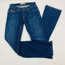 Levis 524 Womens Jeans 1 M Blue Too Superlow Flare Stretch Dark Wash Whi... - $41.03