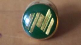 "Swan and Hudson Enamel Green Gold Lapel Pin 1/2"" Diameter Made In Austra... - $12.86"