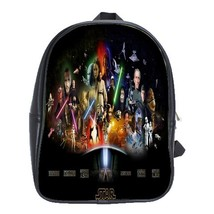 Backpack School Bag Star Wars All Episodes American Galaxy Movie Space Anime Fil - $33.00