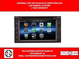 Bluetooth In Dash Navigation Universal Double Din Radio with Touchscreen... - $296.99