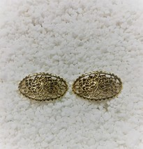 Vintage Gold Tone Shoe Clips Signed MUSI SC0003 - $22.99