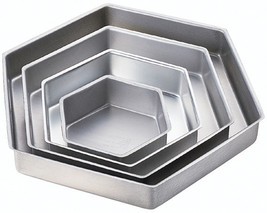 "Performance Cake Pans 4/Pkg-Hexagon 6"", 9"", 12"" & 15"" - $47.82"