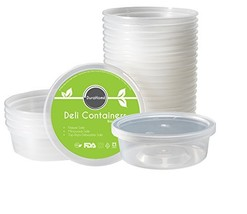 DuraHome - Deli Containers with Lids 8 oz. Leakproof - 40 Pack Plastic M... - $18.21