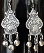 Sterling silver earrings, Boho Earrings, Tribal Earrings, Ethnic Earring... - $39.99