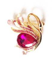 H&G Gold Plated Australian Crystal and Rhinestone Elegant Swan Brooch Pe... - $17.64